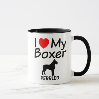 I Love My Boxer Dog Mug