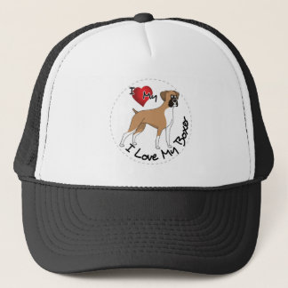 I Love My Boxer Dog Trucker Hat
