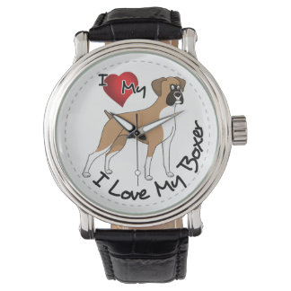 I Love My Boxer Dog Watch