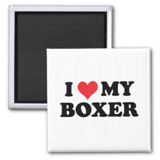 I Love My Boxer Refrigerator Magnet