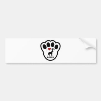 I love my Boxer Paw Print Bumper Sticker