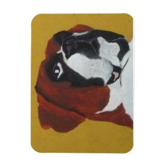 I love  my boxer rectangular photo magnet