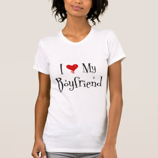 I Love My Boyfriend (2) Ladies Basic TShirt