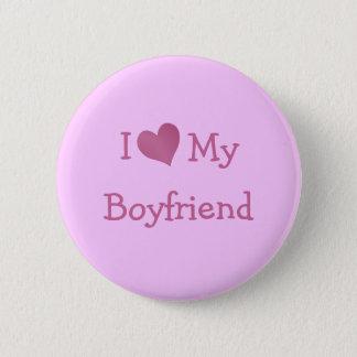 I Love My Boyfriend 6 Cm Round Badge