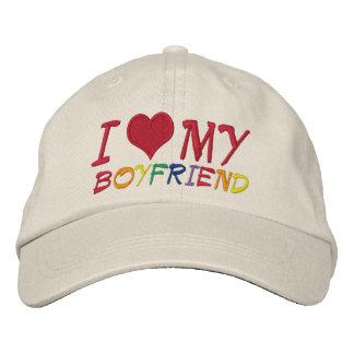 I Love My Boyfriend Embroidered Cap