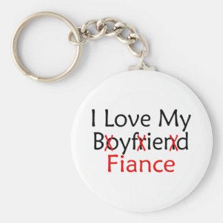 I Love My Boyfriend Fiance Keychain