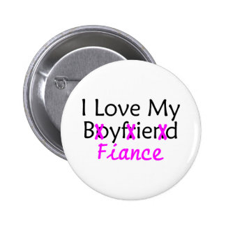 I Love My Boyfriend Fiance Pink 6 Cm Round Badge