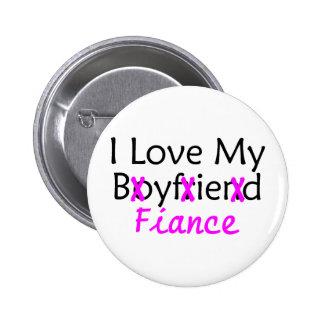 I Love My Boyfriend Fiance Pink 6 Cm Round Badge