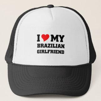 I love my brazilian girlfriend trucker hat