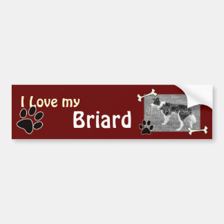I love my Briard Bumper Sticker