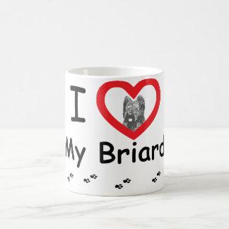 I Love My Briard Coffee Mug