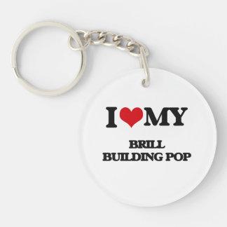 I Love My BRILL BUILDING POP Acrylic Keychains