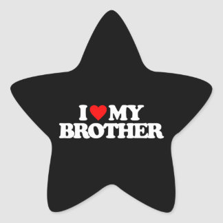 I LOVE MY BROTHER STAR STICKERS