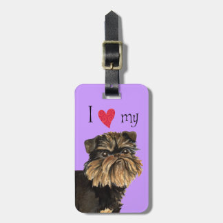 I Love my Brussels Griffon Luggage Tag