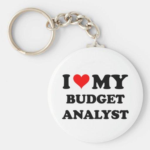 I Love My Budget Analyst Key Chains