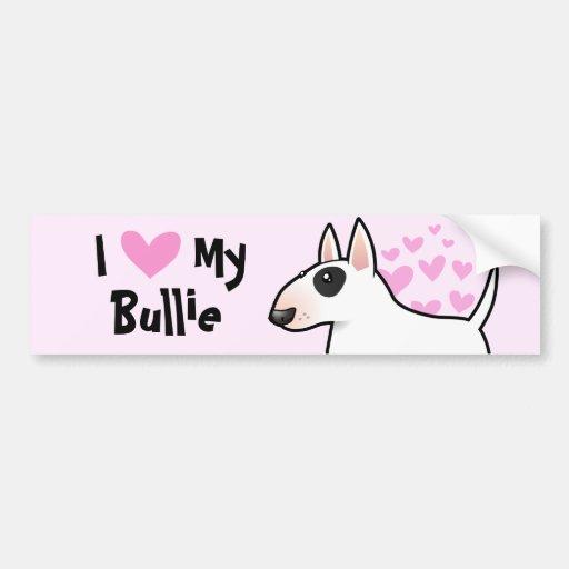 I Love My Bull Terrier Bumper Sticker
