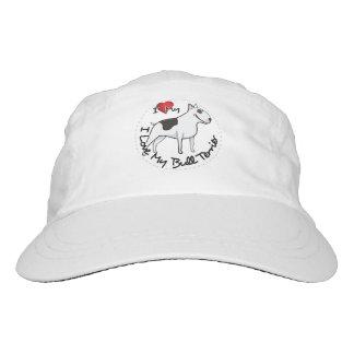 I Love My Bull Terrier Dog Hat