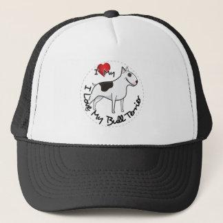 I Love My Bull Terrier Dog Trucker Hat