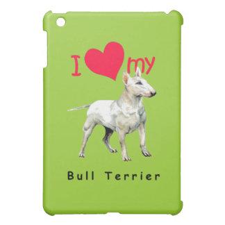 I Love My Bull Terrier iPad Mini Cases