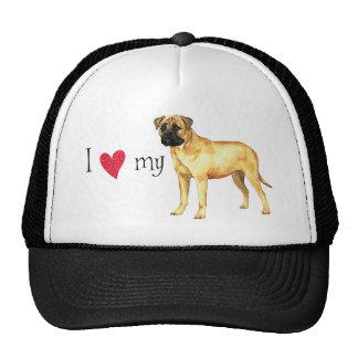 I Love my Bullmastiff Cap