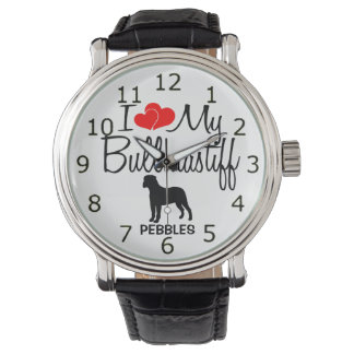 I Love My Bullmastiff Dog Breed Watch