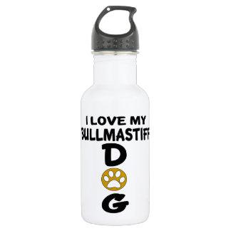 I Love My Bullmastiff Dog Designs 532 Ml Water Bottle