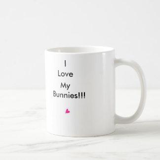 I Love My Bunnies!! Basic White Mug