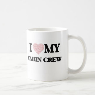 I love my Cabin Crew (Heart Made from Words) Basic White Mug