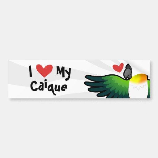 I Love My Caique / Lovebird / Pionus / Parrot Bumper Stickers