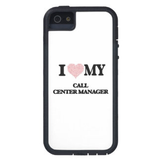 I love my Call Center Manager (Heart Made from Wor iPhone 5 Cases