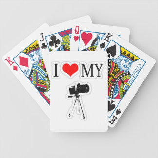 I LOVE MY CAMERA BICYCLE PLAYING CARDS