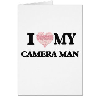 I love my Camera Man (Heart Made from Words) Greeting Card