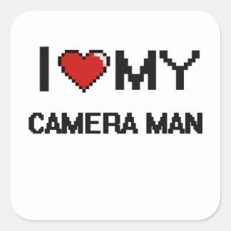 I love my Camera Man Square Sticker