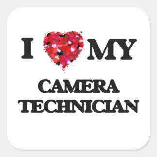 I love my Camera Technician Square Sticker