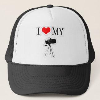 I LOVE MY CAMERA TRUCKER HAT