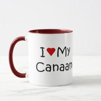 I Love My Canaan Dog Breed Lover Gifts Mug