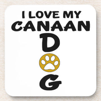 I Love My Canaan Dog Dog Designs Coasters