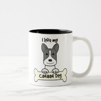 I Love My Canaan Dog Two-Tone Coffee Mug