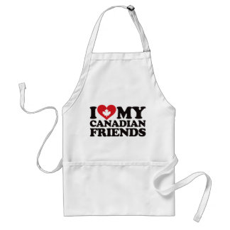 I Love My Canadian Friends Standard Apron