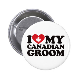 I Love My Canadian Groom 6 Cm Round Badge