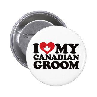 I Love My Canadian Groom 6 Cm Round Badge