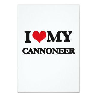 I love my Cannoneer 9 Cm X 13 Cm Invitation Card