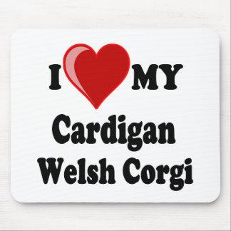 I Love My Cardigan Welsh Corgi Dog Lover Gifts Mousepad