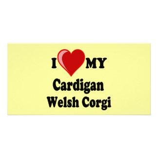 I Love My Cardigan Welsh Corgi Dog Lover Gifts Custom Photo Card