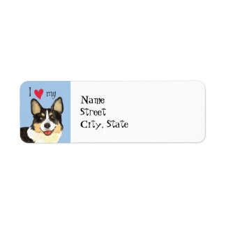 I Love my Cardigan Welsh Corgi Return Address Label