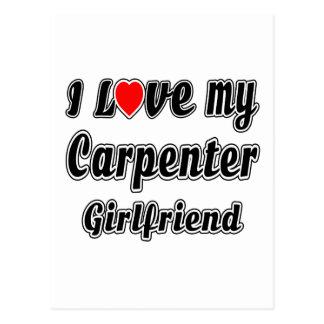 I love my Carpenter Girlfriend Postcard