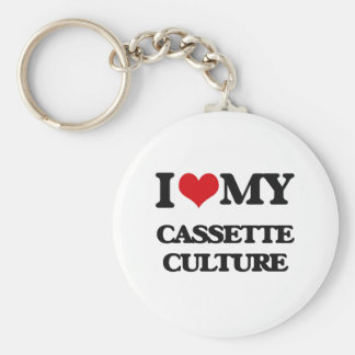 I Love My CASSETTE CULTURE Keychain
