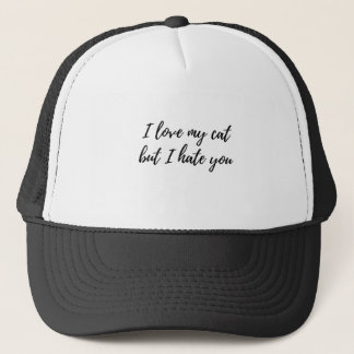 I Love My Cat - Black Trucker Hat