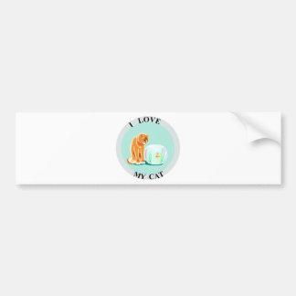 I Love My Cat! Bumper Sticker