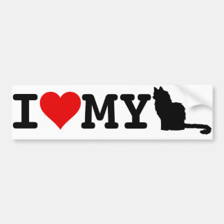 I Love My Cat Bumper Sticker